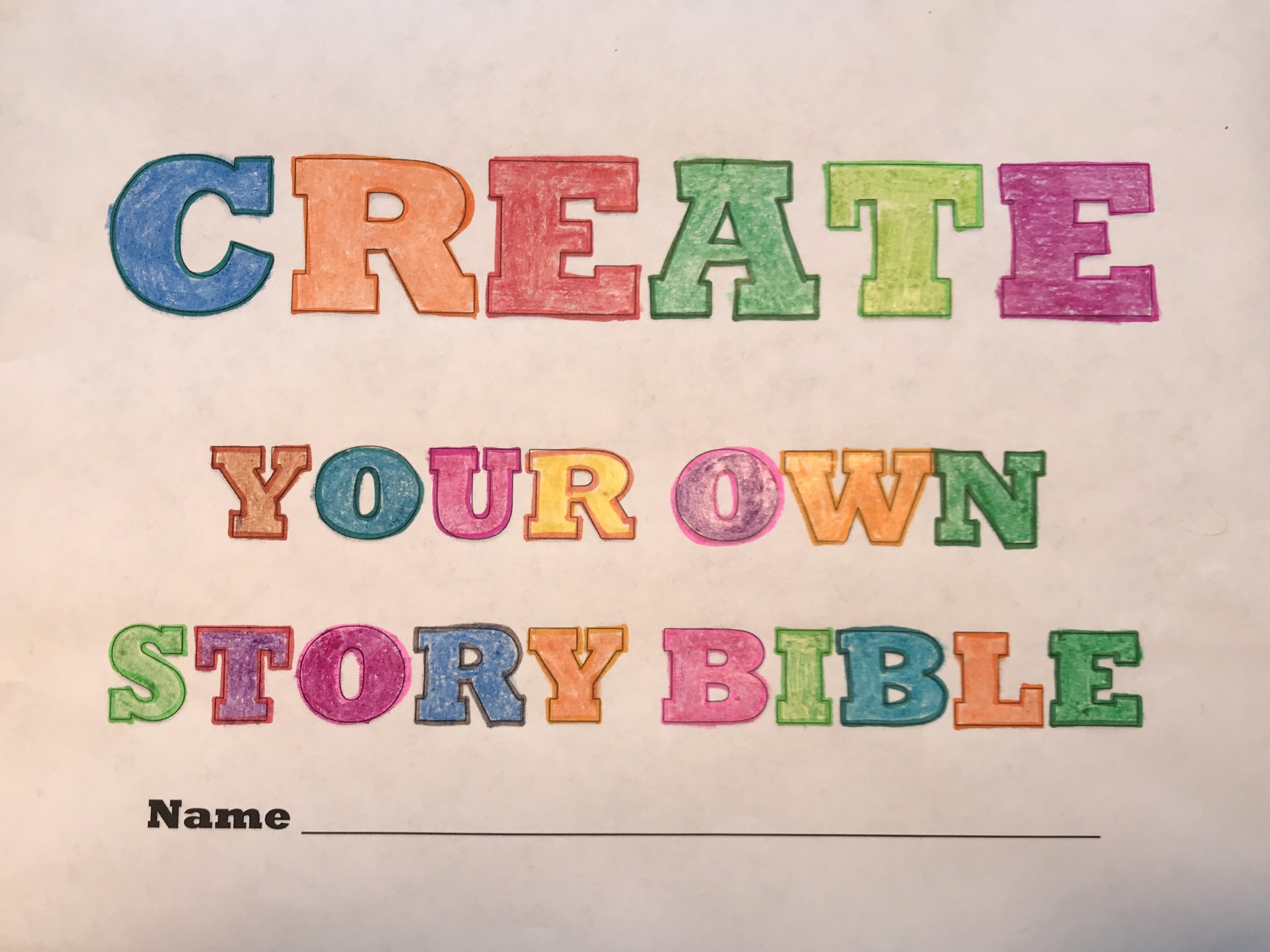 Color Pages:  Create Your Own Story Bible