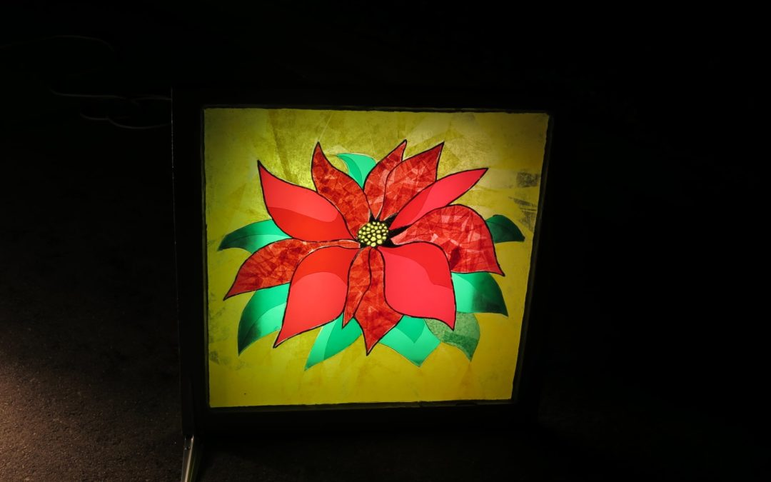 Christmas 'Stained Glass' Artwork