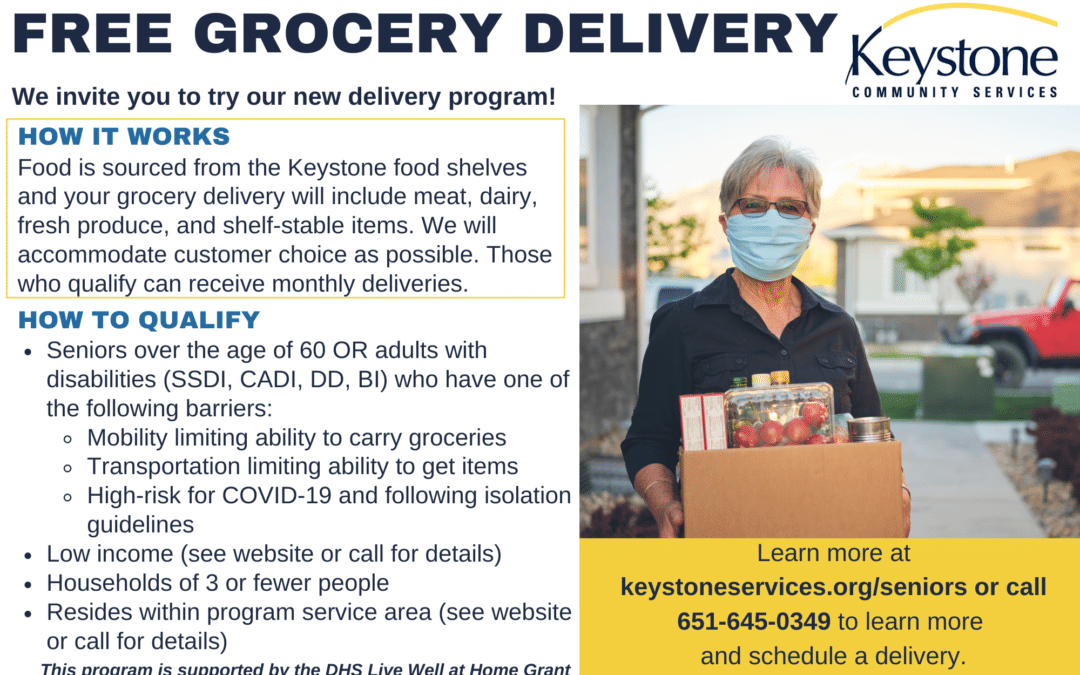 Keystone Community Services Offers FREE Grocery Delivery