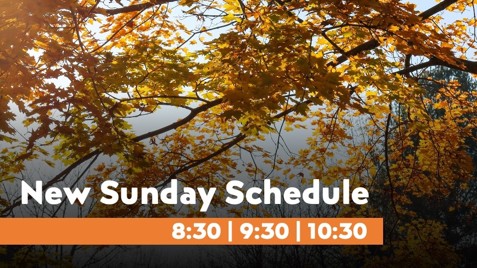 New Sunday Schedule for Fall